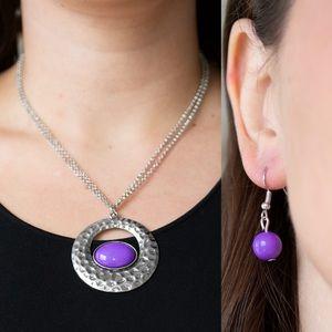 ❤️Purple Eye Necklace Set